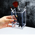 Transparent Makeup Brush Holder Organizer Plastic Pen Holder Desk Table Cosmetic Storage Box Acrylic Jewelry Box Container preview-3