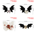 Cosysail Halloween Decoration Hair Accessories for Female Girl Butterfly Skull pumpkin bat wings Hair Clip Headwear Cosplay 2021 preview-6
