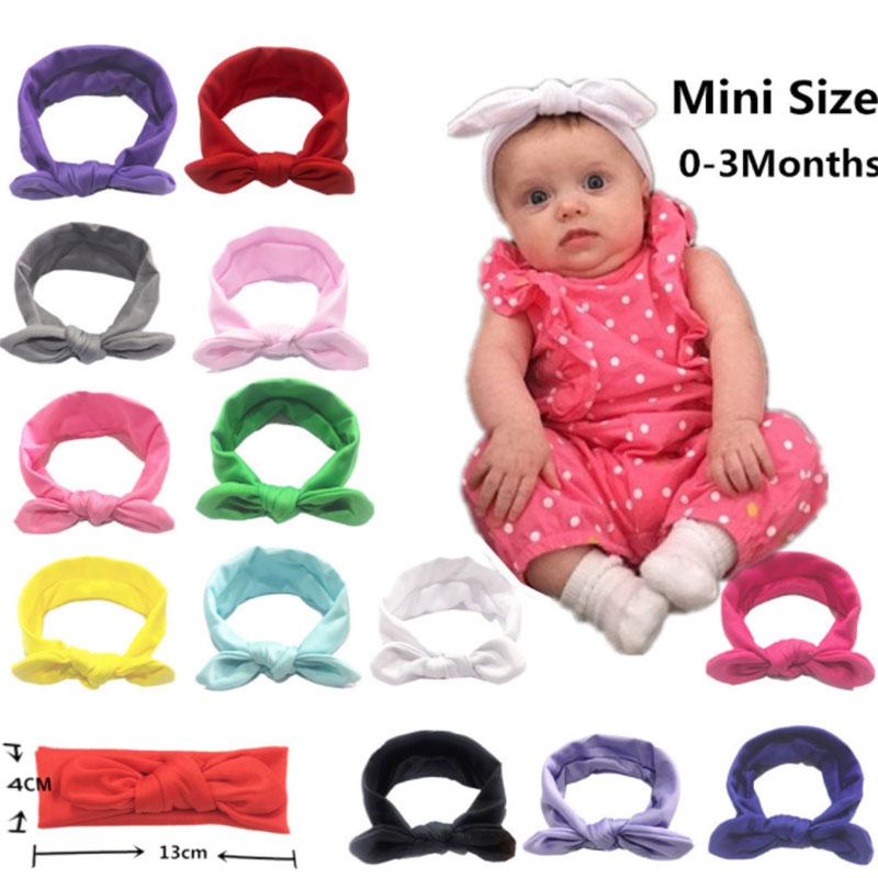 Newborn Baby Pure Color Headband Elastic Bunny Ears Headband Little Girl Headband Elastic Headband Baby Hair Accessories