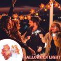 Halloween Decoration Thanksgiving Decor Pumpkin Light, Lighted Garland Battery Garland Home Indoor Outdoor Decor Halloween Maple preview-3