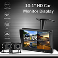 10 inch AHD 4ch Recorder DVR Car Monitor Vehicle Truck Night Vision Rear View Camera Security Surveillance Split Screen Quad preview-2