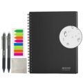 NeWYeS A4 Wet Erasable Reusable Smart Writing Notebook Black Waterproof Paper Auto-Scan Customized Gift Wire Bound Spiral Notes preview-1