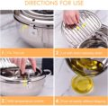 LMETJMA Japanese Deep Frying Pot with a Thermometer and a Lid 304 Stainless Steel Kitchen Tempura Fryer Pan 20 24 cm KC0405 preview-5