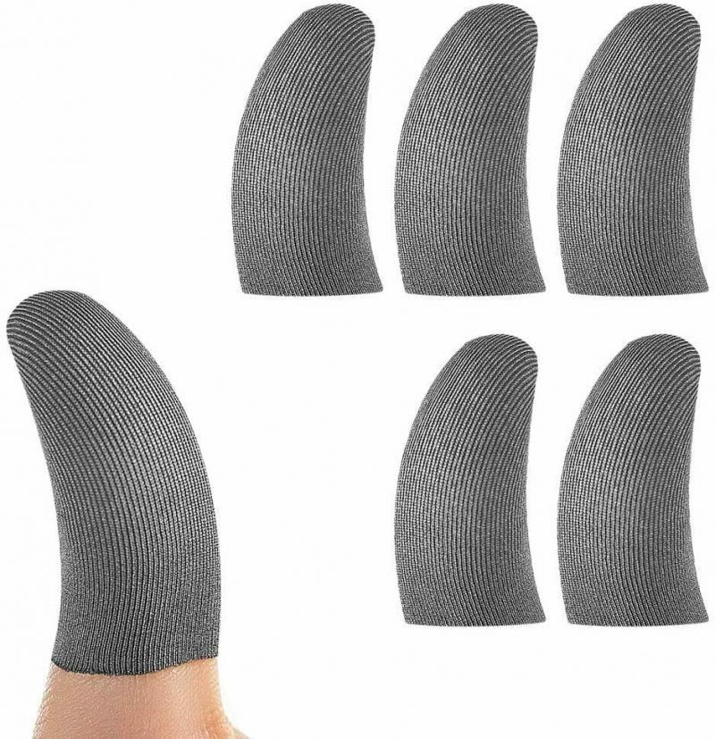 10pcs Breathable Mobile Game Controller Finger Sleeve Sweat-proof Gaming Touch Trigger Screen Gloves For PUBG COD Phone Game