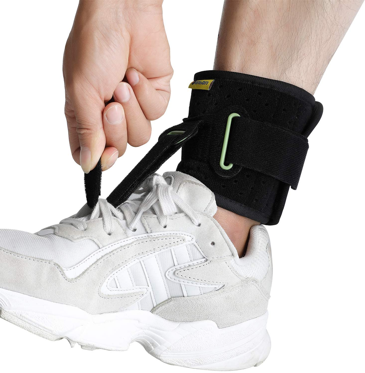 Tenbon Adjustable Ankle foot Support Brace Plantar Fasciitis Foot Drop Foot Cramp Prevent Foot Stabilizer Pain Relief Guard Stra
