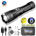 ZHIYU Adjustable Flashlight Strong Light Rechargeable LED Torch 18650 or 26650 Battery Zoom 5 Modes Outdoor Camping Emergency preview-2
