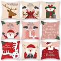 Merry Christmas Cushion Cover Santa Claus Elk Christmas Decoration For Home 2021 Christmas Ornaments Natal Navidad New Year 2022 preview-2
