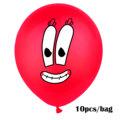10Pcs Sponge Party Supplies Boy or Girl Bob Latex Balloons Happy Birthday Cartoon Theme Decoration Kids Ballon Party Decor preview-4