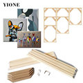 Natural Pine Wooden Painting Frame Custom Photo Frame DIY Large Size Wood Frame for Picture Poster Wall Canvas Painting Cadre preview-6