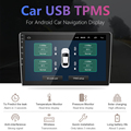 Jansite USB Android TPMS Car Tire Pressure Alarm Monitor System For vehicle Android player Temperature Warning with four sensors preview-2