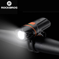 ROCKBROS Bicycle Front Light Waterproof 6 Light Modes Bike LED Lights 250 Lumens USB Rechargeable Cycling MTB Safety Flashlight preview-1