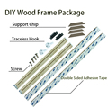 DIY Wood Frame For Stretched Canvas Paintings Ready To Hang On Wall Art Separate Frame For Posters And Prints Oil Painting preview-2