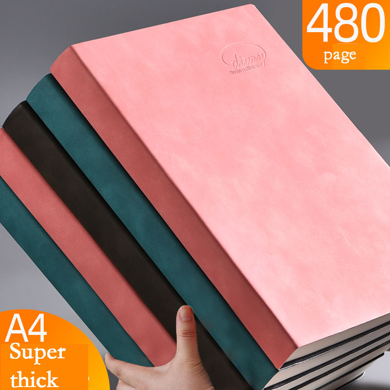 Notebook A4 Thickened Large Business Super Thick Grid Blank Grid Diary Cuaderno And Journals Libretas Zeszyt Papeleria Cahier