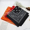 Bandana kerchief Unisex Hip Hop Black Hair Band Neck Scarf Sports Headwear Wrist Wraps Head Square Scarves Print Handkerchief preview-1