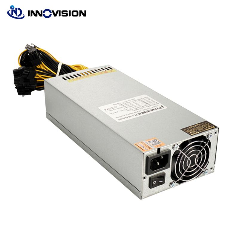 high efficiency Block Chain 2500W 2400W high-power computer power supply gpu server psu 10x6pin cable