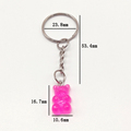 Flatback Resin Pendant Phone Charms Handbag Keyring Resin Cabochons Bear Keychain For Freinds Childrens Bag Pendant Jewelry preview-4