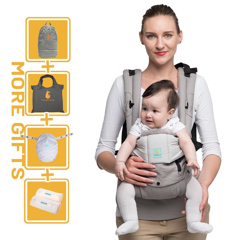 Kangarouse Ergonomic Baby Carrier Infant Kid Baby Sling Front Facing Kangaroo Baby Wrap Carrier for Baby Travel 0-36 Months
