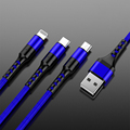 3in1 Data USB Cable for iPhone Fast Charger Charging Cable For Android phone type c xiaomi huawei Samsung Charger Wire For iPad preview-2