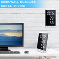 6 Inch LED Mirror Alarm Clock Touch Button Wall Digital Clock Time Temperature Humidity Display USB Output Port Table Clock preview-2