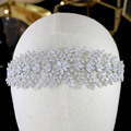 ASNORA Wedding Crown Hair Accessories High Quality Bridal Crown Headband Soft Headband 3A CZ Tiaras And Crowns Jewelry For Women preview-4