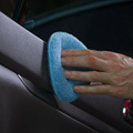 24PCS 5inch Car Waxing Sponge Blue Round Applicator Easy Cleaning Leather Polish Pad Foam Microfiber Universal Washable Reusable preview-3