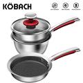 KOBACH kitchen pan set 16cm breakfast pots for kitchen frying pan milk pot stainless steel cooking pots nonstick cookware sets preview-1