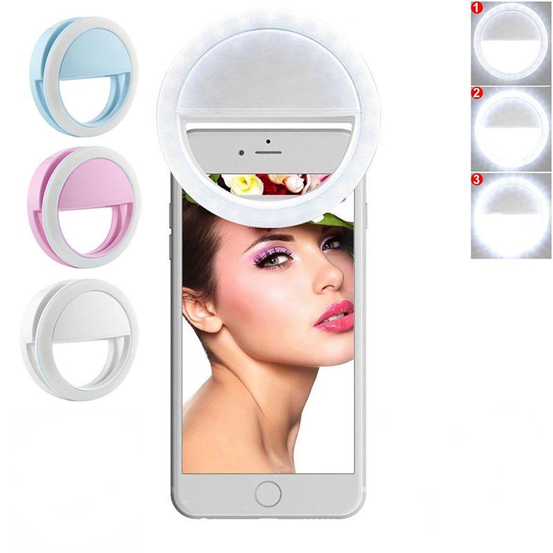 1PCS Round Shape On Ring Light on Camera Selfie LED Camera Light with 36 LED for Smart Phone Camera