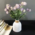 Modern Plastic Vase Home Decor European Imitation Ceramic Rattan Flower Arrangement Nordic Wedding Decorations Unbreakable Pot preview-5