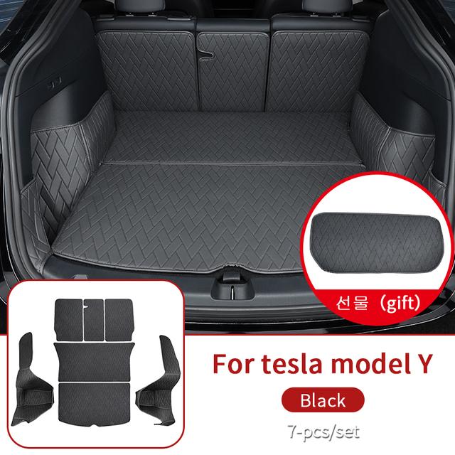 Leather trunk For Tesla model y trunk mat accessories model Y tesla Y accessoires All-inclusive back box cushion 7pcs/set