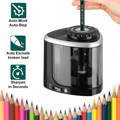 NEW 1PCS Electric Auto Pencil Sharpener Safe Student Helical Steel Blade Sharpener for Artists Kids Adults Colored Pencils preview-1