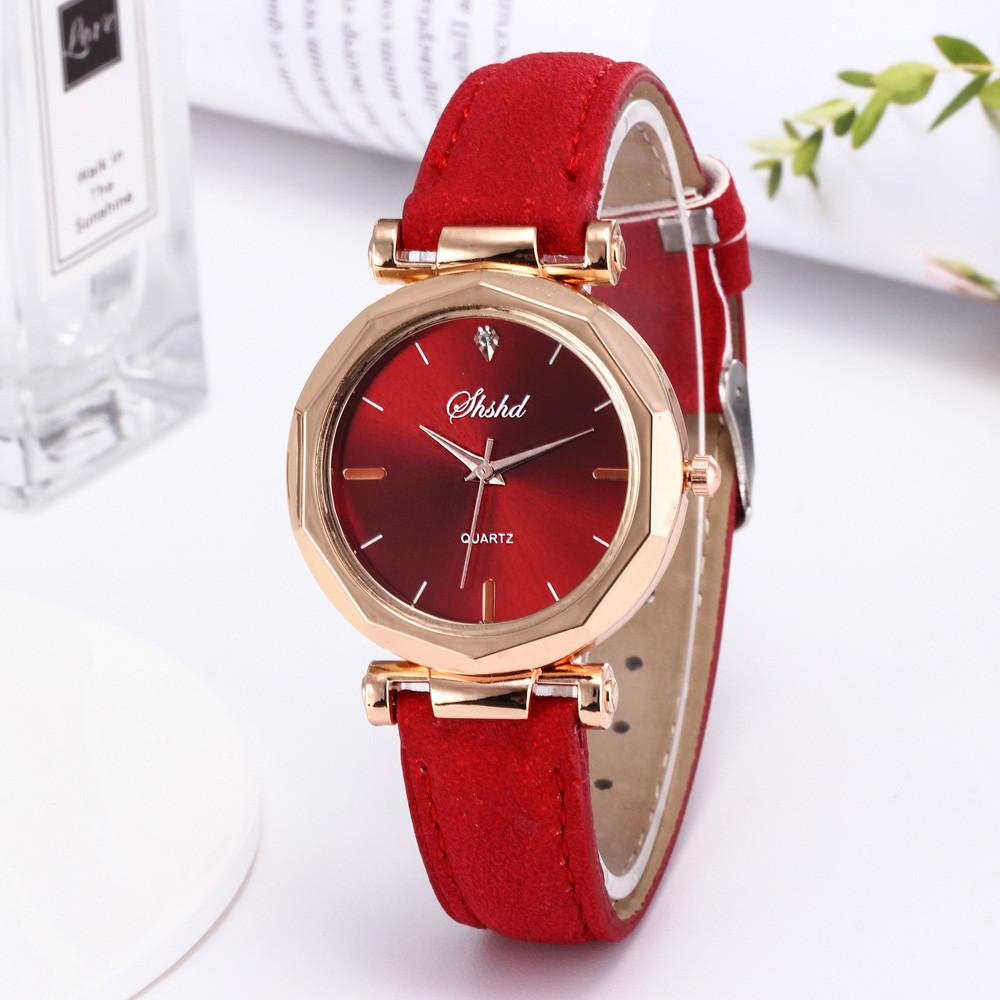 Fashion Women Leather Casual Watch Luxury Analog Quartz Crystal Wristwatch часы женские наручные смарт часы часы женские 2020