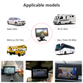 Jansite Universal 7-inch Wired Car monitor TFT Auto Rear View Monitor Parking Assistance Security System Backup Camera For Truck preview-3