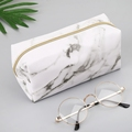 Large Cute Pencil Case Pouch Pen Box Zipper Bags Marble Makeup Storage Supplies for Student 1014 preview-1