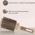 New 1pc/4pcs Hair Comb Brush Nano Hairbrush Ceramic Ion Round Barrel Comb Hairdressing Hair Salon Styling Tool 30#216 preview-4