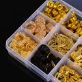 200Pcs Hair Coil Dreadlocks Hair Braid Rings Dreadlocks Hair Braid Cuffs Beads DIY Hair Accessories Jewelry Pendants Bead Cuff preview-1