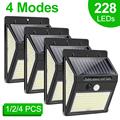 228 144 LED Solar Light Outdoor Solar Lamp PIR Motion Sensor Light Waterproof Solar Powered Sunlight for Garden Decoration preview-1