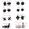 M4 M6 M8 M10 to 1/4  or 3/8 male to male Screw Mount Adapter for camera tripod camera photography accessories preview-1