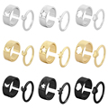 LATS Trendy Lover Star Moon Aircraft Cherry Dinosaur Mushroom Butterfly Rings for Women Men Couple Open Ring Set 2021 Jewelry preview-4