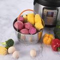Stainless Steel Kitchen Steam Basket Pressure Cooker Anti-scald Steamer Multi-Function Fruit Cleaning Basket Cookeo Accessories preview-4