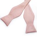 Pink Plaid Solid Men's Self Tie Bow Tie Silk Jacquard Woven Wedding Party Bowtie Hanky Brooch Set Men Butterfly Necktie DiBanGu preview-6