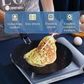 WORTHBUY 30cm Non-Stick Iron Saucepan Egg Pancake Pan For Breakfast Steak Omelette Frying Pan Kitchen Non-Stick Cookware Pan preview-5