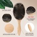 1PC Professional Denman Brush USA Oak Wood Hair Brush Airbag Brush Soft Boar Bristle Brush Hair Straightener Wood Brush For Hair preview-4