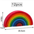 Baby Toys Large Rainbow Stacker Wooden Toys For Kids Creative Rainbow Building Blocks Montessori Educational Toy Children preview-4
