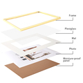 Modern Gold Aluminum Photo Pictures Frames 40x50 30x40cm A4 21x30 cm Wall Mounting with Mat for Poster Canvas Prints Home Decor preview-3