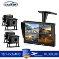 10 inch AHD 4ch Recorder DVR Car Monitor Vehicle Truck Night Vision Rear View Camera Security Surveillance Split Screen Quad preview-1