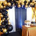 110pcs Chrome Silver Gold Balloons Arch Kit Black Balloon Garland Wedding Birthday Christmas Party Decor Kids Baby Shower Globos preview-3
