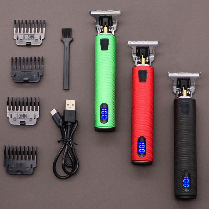 2021 USB T9 Rechargeable Professional Hair Clipper Cutting Electric Cordless Shaver Trimmer 0mm Men Barber Machine Men Beard