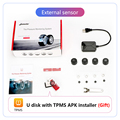 Jansite USB Android TPMS Car Tire Pressure Alarm Monitor System For vehicle Android player Temperature Warning with four sensors preview-6