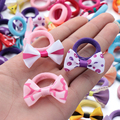 10Pcs Polka Dots Bow Hair Ring Rope Elastic Hair Rubber Bands Hair Accessories for Girls Hair Tie Ponytail Holder Headdress preview-1