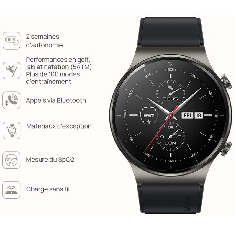 In stock Global Version HUAWEI Watch GT 2 pro SmartWatch 14 days Battery Life GPS Wireless Charging  Kirin A1 GT2 Pro preview-3